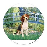 TILE-Bridge1-Beagle1.png Round Car Magnet