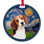 MP-Starry-Beagle1-nc.PNG Round Ornament