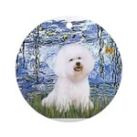 SFP-Lilies6-Bichon1.png Ornament (Round)