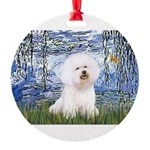 SFP-Lilies6-Bichon1.png Round Ornament