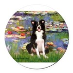 TILE-Lililes2-BordC1.png Round Car Magnet