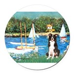 5.5x7.5-Sailbts-BordC1.png Round Car Magnet