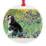 5.5x7.5-Irises-Boston4.png Round Ornament
