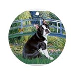 Boston Terrier 4 - The Bridge Ornament (Round)