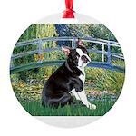 Boston Terrier 4 - The Bridge Round Ornament