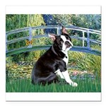 Boston Terrier 4 - The Bridge Square Car Magnet 3
