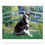 Boston Terrier 4 - The Bridge Square Car Magnet 3