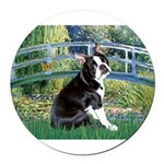 Boston Terrier 4 - The Bridge Round Car Magnet