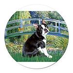 Boston Terrier 4 - The Bridge Round Car Magnet