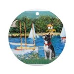 Boston Terrier Sailboats Ornament (Round)