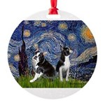 Starry Night & Bos Ter Round Ornament