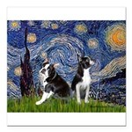 Starry Night & Bos Ter Square Car Magnet 3
