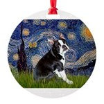 5.5x7.5-Starry-Boston4.png Round Ornament