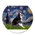 5.5x7.5-Starry-Boston4.png Round Car Magnet
