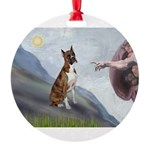 MP-Creation-Boxer5-Brindle.png Round Ornament