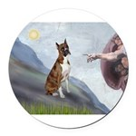 MP-Creation-Boxer5-Brindle.png Round Car Magnet