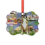 TILE-Lilies2-Boxer2-Nat.png Picture Ornament