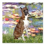 MP-Lilies2-Boxer5-Brindle.png Square Car Magnet 3