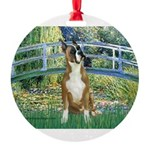 TILE-Bridge-Boxer1up.png Round Ornament