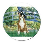 TILE-Bridge-Boxer1up.png Round Car Magnet
