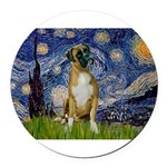 5.5x7.5-StarryNight-Boxer4-nat.png Round Car Magne