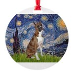 MP-Starry-Boxer5-Brindle copy.png Round Ornament