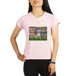 Lilies2-Bull Terrier (P) Performance Dry T-Shirt