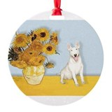 MP-Sunflowers - Bull Terrier 4.png Ornament