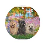 TILE-GARDEN-CairnTRIO4-13-21.png Ornament (Round)