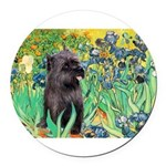 MP-IRISES-Cairn-BR17.png Round Car Magnet