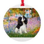 PILLOW-Garden-Cav-TRI5.png Round Ornament
