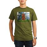 MP-LILIES1-Cav-Ruby7.tif Organic Men's T-Shirt (da