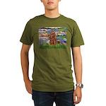 3-MP-LILIES2-Cav-Ruby7.png Organic Men's T-Shirt (