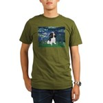 3-LILIES1-Cav-Tri6.png Organic Men's T-Shirt (dark