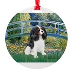 CLOCK-BRIDGE-Cav-Tri6.tif Round Ornament