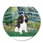 CLOCK-BRIDGE-Cav-Tri6.tif Round Car Magnet