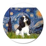 STARRY-Cavalier-TRI 5-REV.png Round Car Magnet