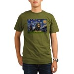 PILLOW-StarryCav-Blk-Tan.png Organic Men's T-Shirt