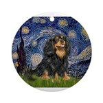 PILLOW-StarryCav-Blk-Tan.png Ornament (Round)