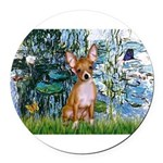 57-Lilies1-CHIH2.png Round Car Magnet