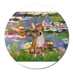 5x7-Lilies2-CHIH2.png Round Car Magnet
