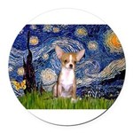 57-Starry-CHIH1.png Round Car Magnet