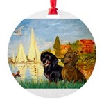 5.5x7.5-Sailbts2-DachsPR.png Round Ornament