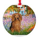 MP-Gardn-M-LHDachs.png Round Ornament