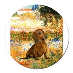 GardenVG-Dachs1.png Round Car Magnet