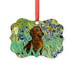 5.5x7.5-Irises-Dachs-Brwn1.png Picture Ornament
