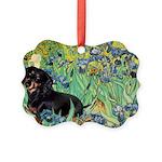 8x10-Irises-Dachs-Blk4.png Picture Ornament