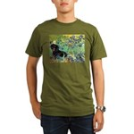 8x10-Irises-Dachs-Blk4.png Organic Men's T-Shirt (