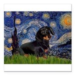5.5x7.5Starry-Dachs16.png Square Car Magnet 3
