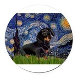 5.5x7.5Starry-Dachs16.png Round Car Magnet